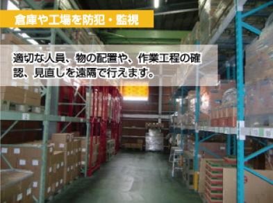 倉庫や工場を防犯・監視